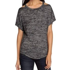 Rag and Bone Heather gray cold shoulder tee M NWT